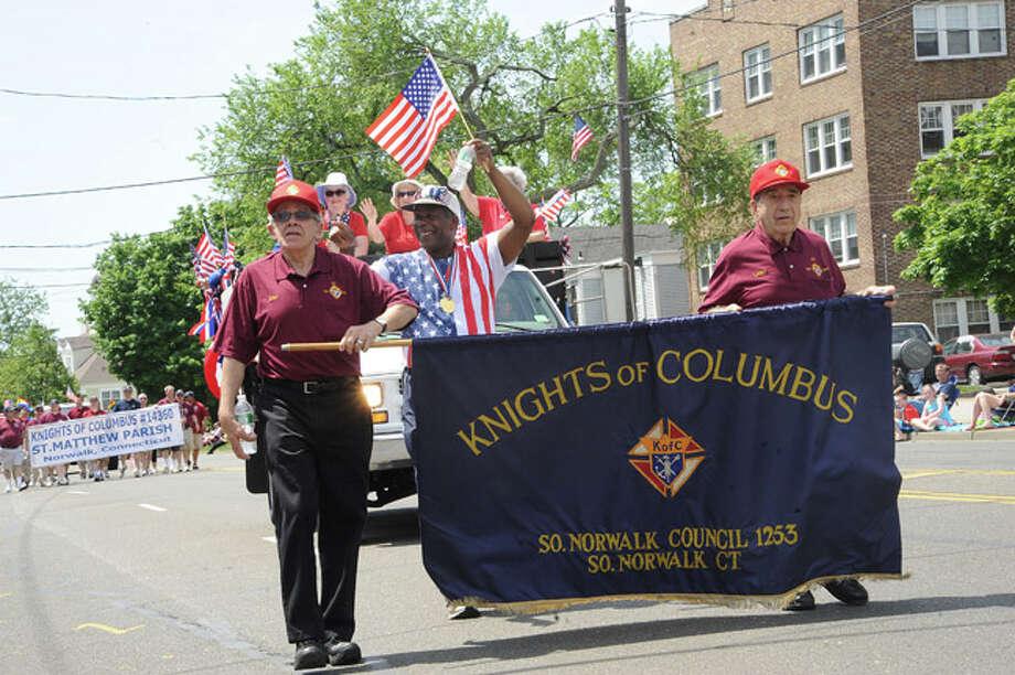 Knights of Columbus at the Norwalk Memorial Day Parade. Hour photo/Matthew Vinci