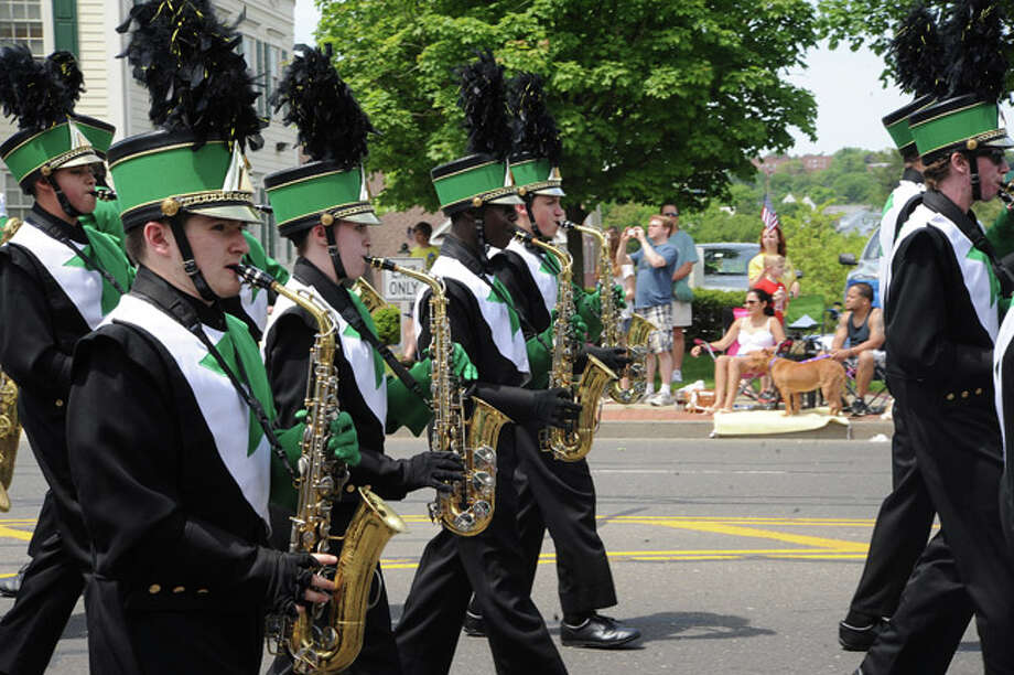 The Norwalk High Schgool marching band at the Memorial Day Parade. Hour photo/Matthew Vinci