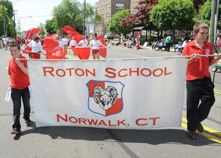 Roton School at the Norwalk Memorial Day Parade. Hour photo/Matthew Vinci