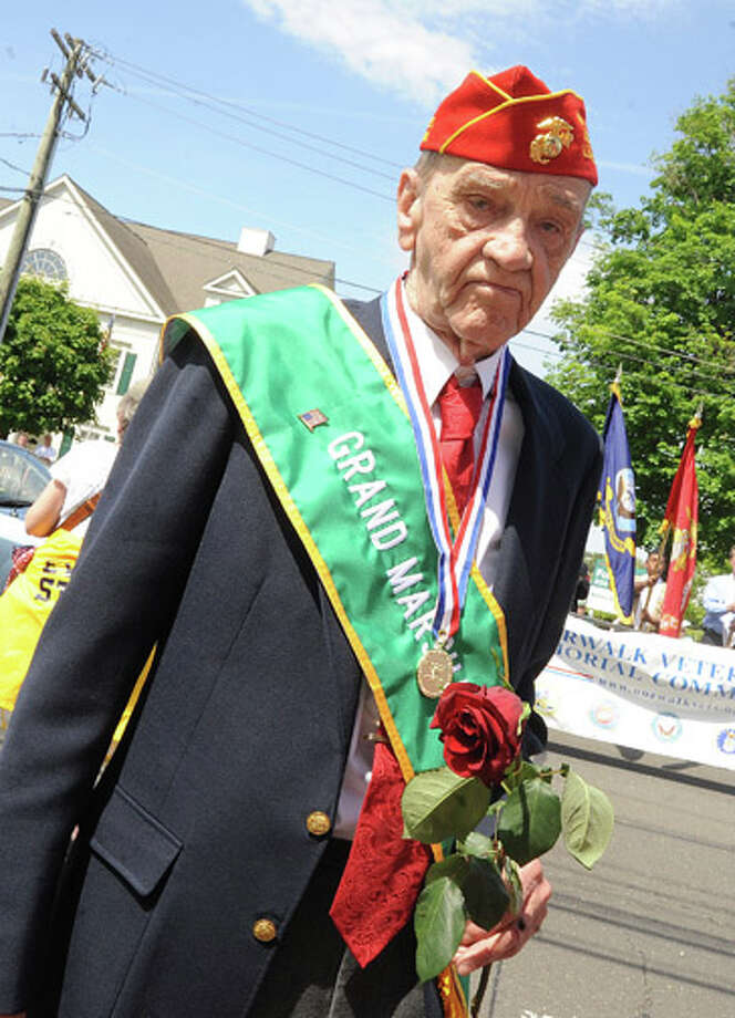 Parade Grand Marshall Lee Seymour at the Memorial Day Parade Monday in Norwalk. Hour photo Matthew Vinci