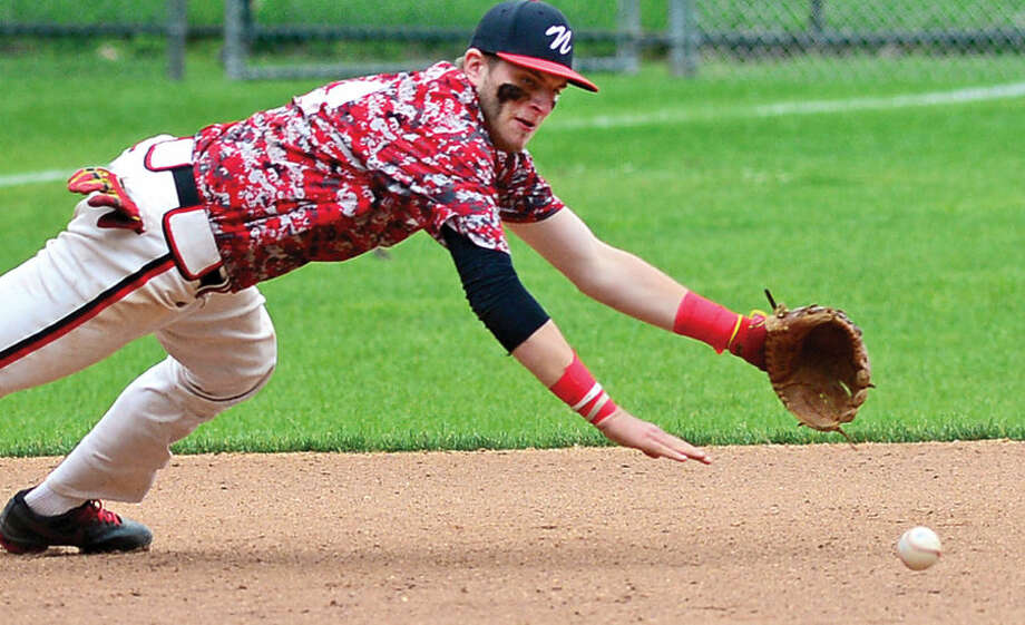 Hour photo / Erik Trautmann Norwalk American Legion Baseball played against Stamford Saturday at Cubeta Stadium.