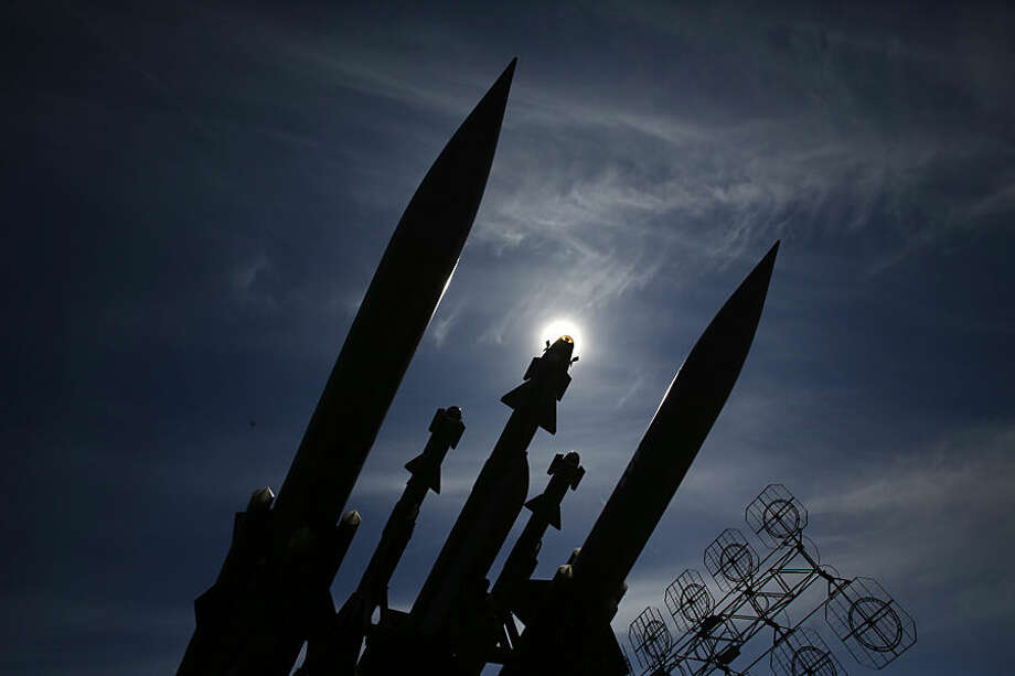 "A mobile surface-to-air missile system 2K12 ""Kub"" is displayed at the defense fair in Belgrade, Serbia, Tuesday, June 23, 2015. (AP Photo/Darko Vojinovic)"