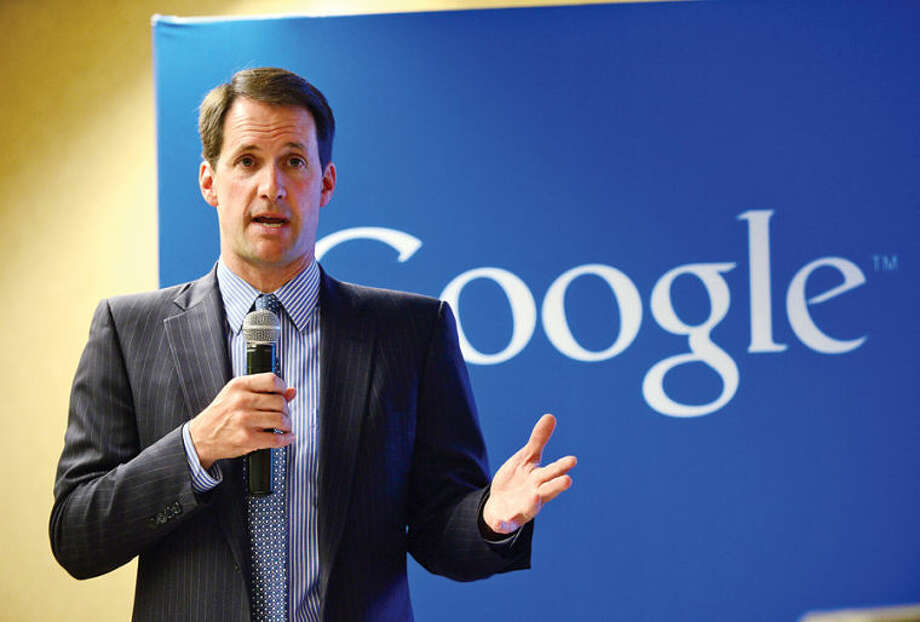 Hour photo / Erik Trautmann U.S. Congressman Jim Himes (D-Conn.) joins Google for a Connecticut Get Your Business Online event at Dolce Norwalk Tuesday. During the Connecticut Get Your Business Online event, Google experts teach business owners how to reach more customers online.