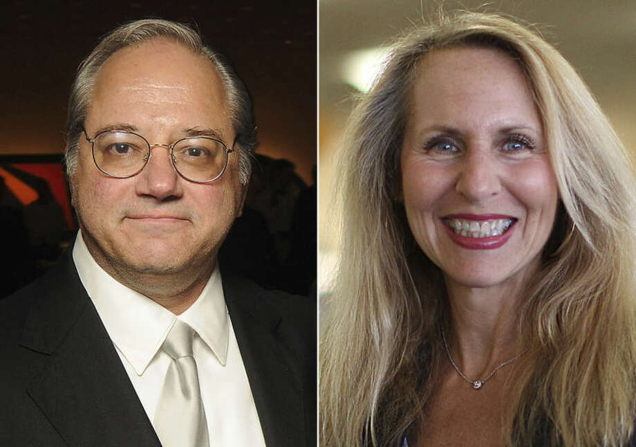 This photo combination shows, from left, Nabors Industries CEO Anthony Petrello, in Houston, and TJX CEO Carol Meyrowitz, in Framingham, Mass. Petrello was the highest paid CEO in 2013, and Meyrowitz was the highest paid female CEO in 2013. (AP Photo/Houston Chronicle, Dave Rossman/Boston Globe, Suzanne Kreiter) BOSTON HERALD OUT, QUINCY OUT; NO SALES