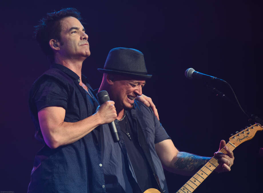 Hour photo/John Nash - Train played at Mohegan Sun Arena on Sunday night.