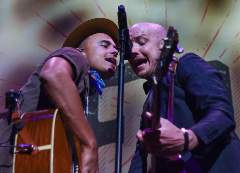 Hour photo/John Nash - The Fray played at Mohegan Sun Arena on Sunday night.