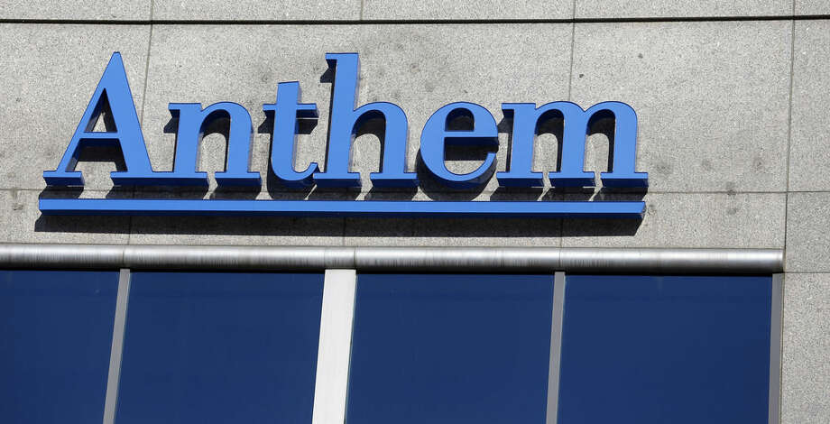 FILE - This Feb. 5, 2015 file photo shows the Anthem logo at the health insurer's corporate headquarters in Indianapolis. Anthem on Monday, June 22, 2015 reaffirmed their commitment to buy rival Cigna a day after Cigna shot down the idea in a letter delivered to Anthem's board. (AP Photo/Michael Conroy, File)