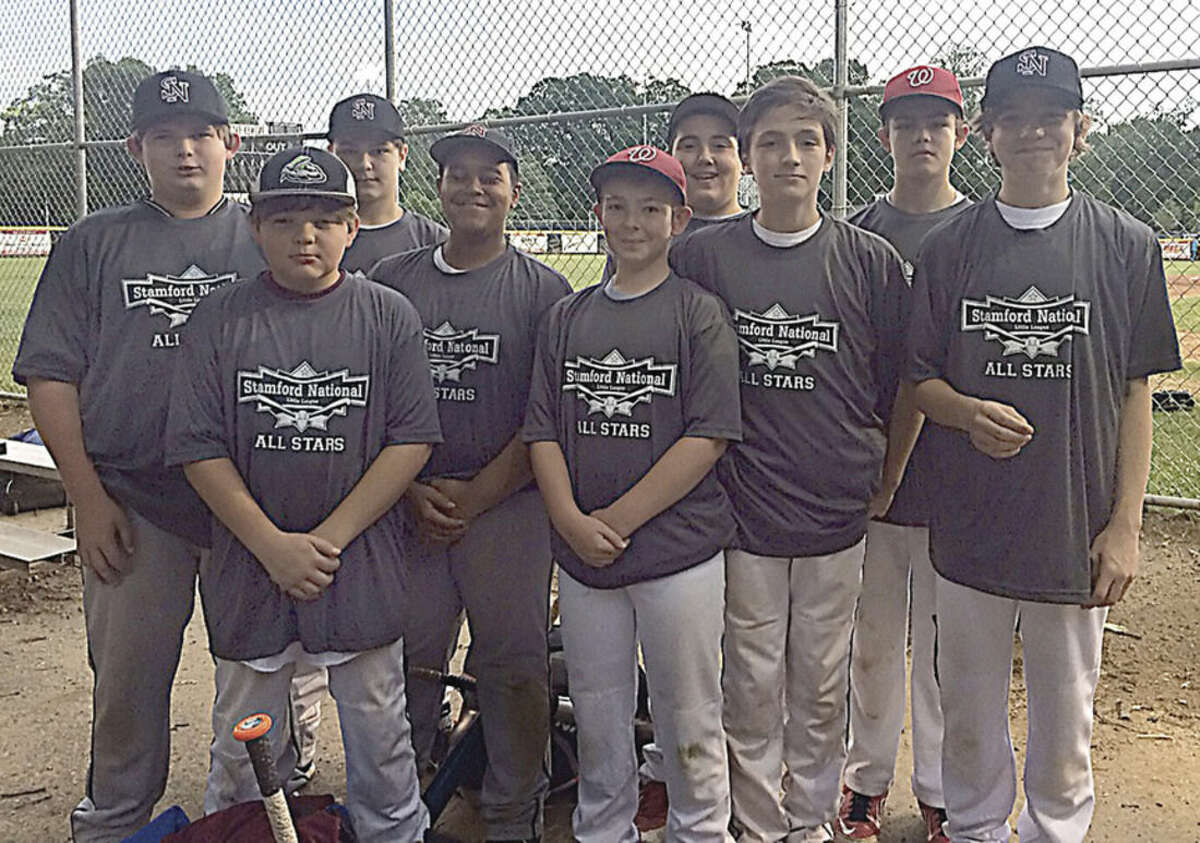 Contributed photo The Stamford National 12-year-old District 1 All-Star Little League baseball team.