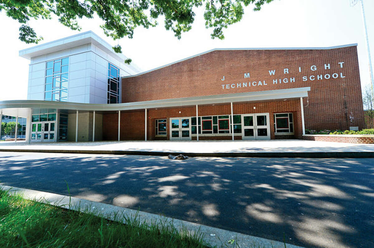 Hour photo / Erik Trautmann The new Wright Technical High School is on schedule to reopen this Fall.