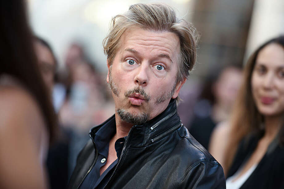 "David Spade arrives at the LA Premiere of ""Joe Dirt 2: Beautiful Loser"" on Wednesday, June 24, 2015, in Culver City, Calif. (Photo by Richard Shotwell/Invision/AP)"