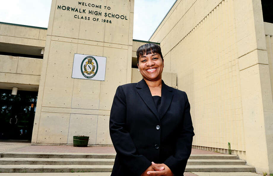 Hour photo / Erik Trautmann Norwalk High School Housemaster, Karen Amaker, has been appointed Director of Norwalk Early College Academy.