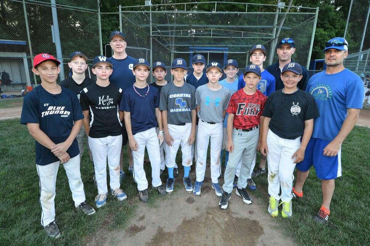 Hour Photo/Alex von Kleydorff. Wilton Little League team