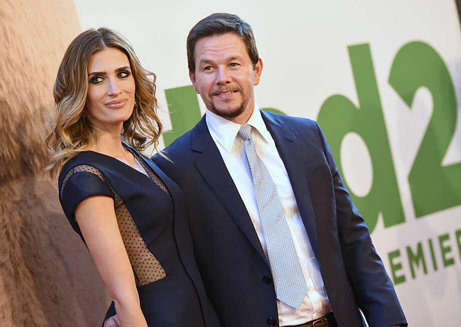 "Rhea Durham, left, and Mark Wahlberg attend the world premiere of ""Ted 2"" at the Ziegfeld Theatre on Wednesday, June 24, 2015, in New York. (Photo by Evan Agostini/Invision/AP)"