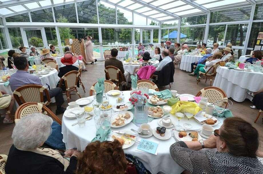 Hour Photo/Alex von Kleydorff The Norwalk Garden Club's 90 year anniversary high tea at The Norwalk Inn