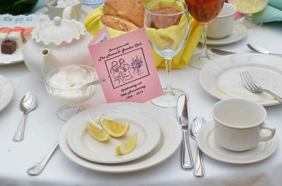 Hour Photo/Alex von Kleydorff The Norwalk Garden Club's 90 year anniversary high tea at The Norwalk Inn
