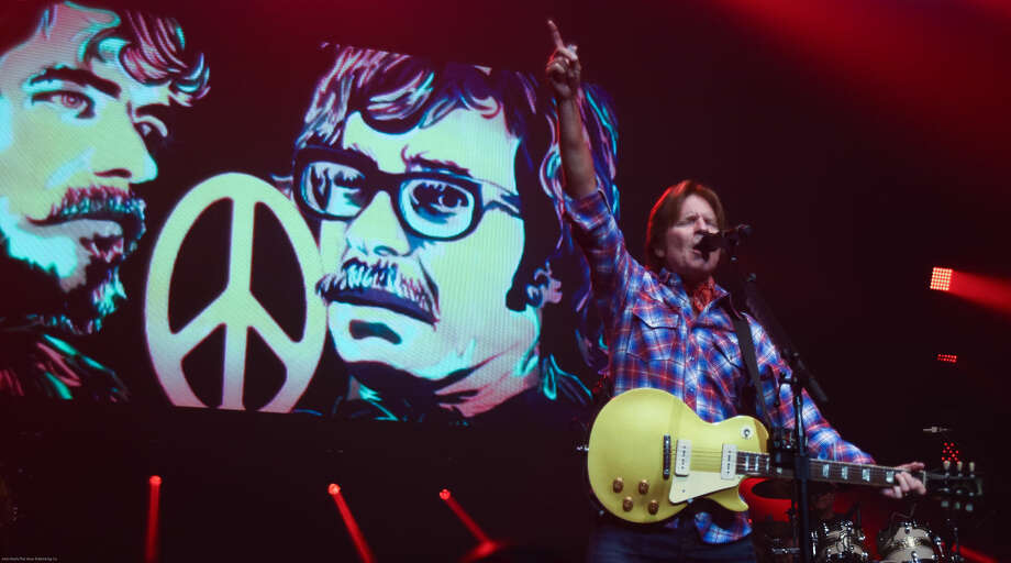 Hour photo/John Nash - Rock legend John Fogerty played at Mohegan Sun Arena on Thursday night.