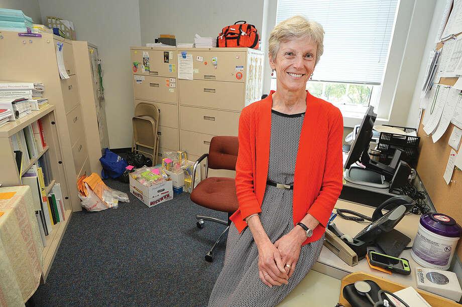 Hour Photo/Alex von KleydorffNorwalk Public Schools Health Services Coordinator Grace Vetter will retire after 21 years with the school system