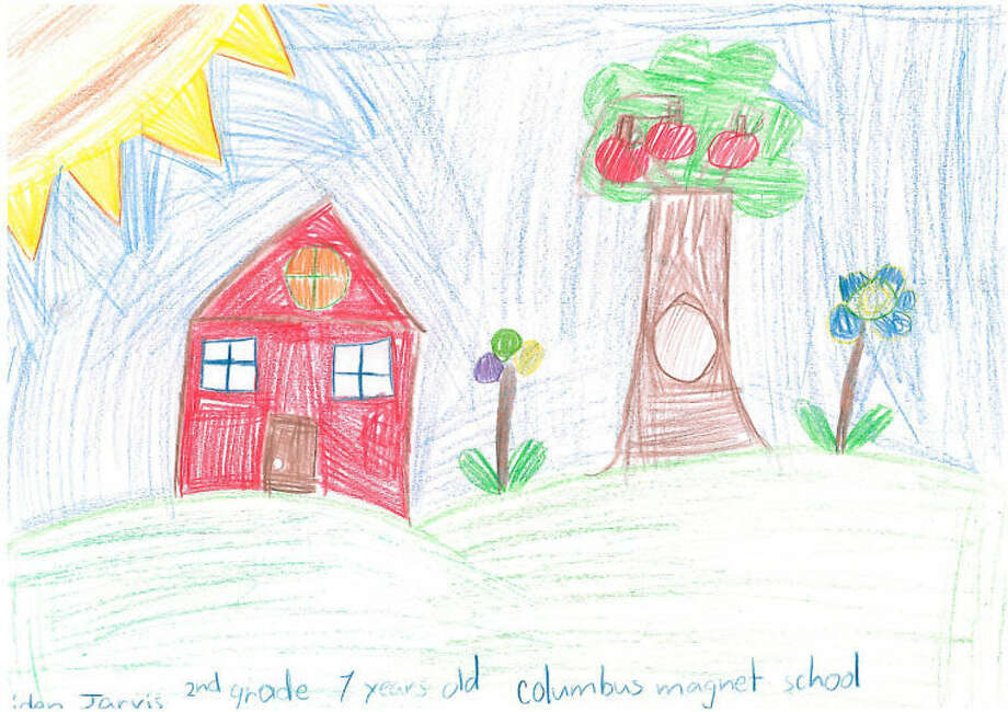 Weather drawing by Aiden Jarvin, 2nd Grade, Columbus Magnet School.