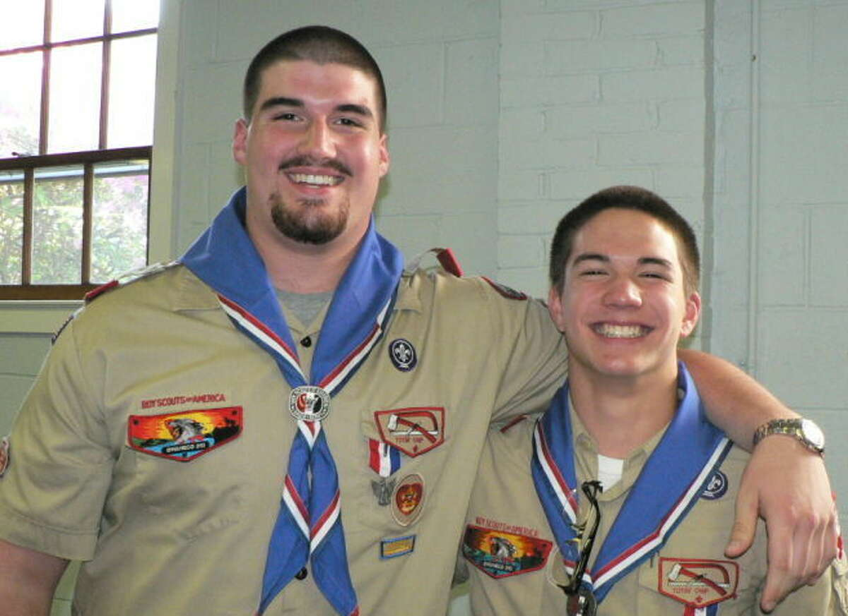 Andrew (Ace) Sakamoto and Joseph (Joey) Fraccaroli were the guests of honor as Boy Scout Troop 20 welcomed the new Eagle Scouts at a ceremony held on their behalf at Zion's Hill Methodist Church on May 18.