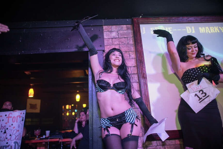 The 13th Annual Bettie Page Lookalike Contest at the Brass Monkey, Friday night, June 10, 2016, saw San Antonio's finest pinup aficionados strut their stuff. Photo: By Chavis Barron And Isaiah Matthews/Solarshot, For MySA.com
