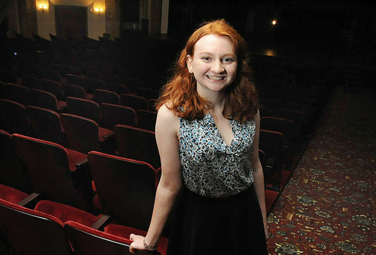 Stephanie Walsh at the Place Theatre in Stamford. She is the winner of the Palace Theatre emerging artist scholarship. Hour photo/Matthew Vinci