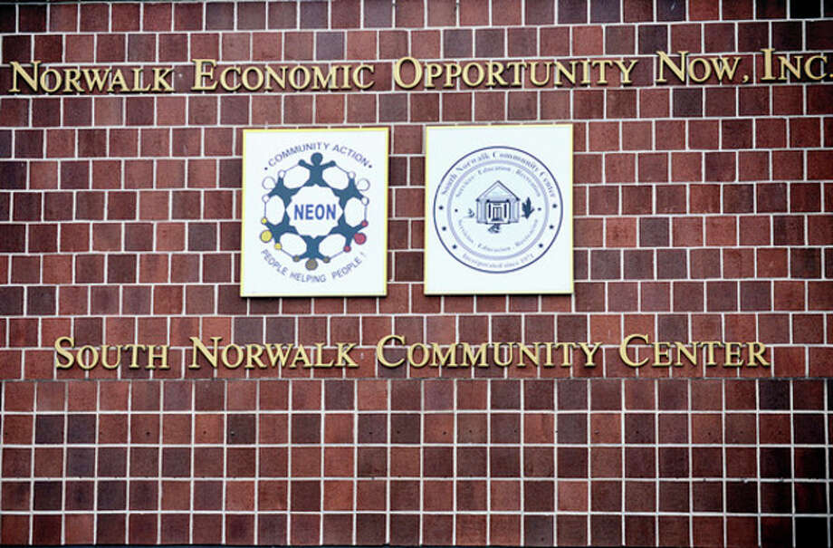 Hour photo / Erik TrautmannSouth Norwalk Community Center and Norwalk Economic Opportunity Now, Inc. are in a turf battle over use of 98 South Main St. It has escalated to exchange of letters between attorneys. / (C)2013, The Hour Newspapers, all rights reserved