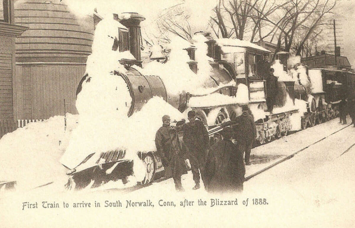 First Tain Arrives in South Norwalk after 1888 blizzard