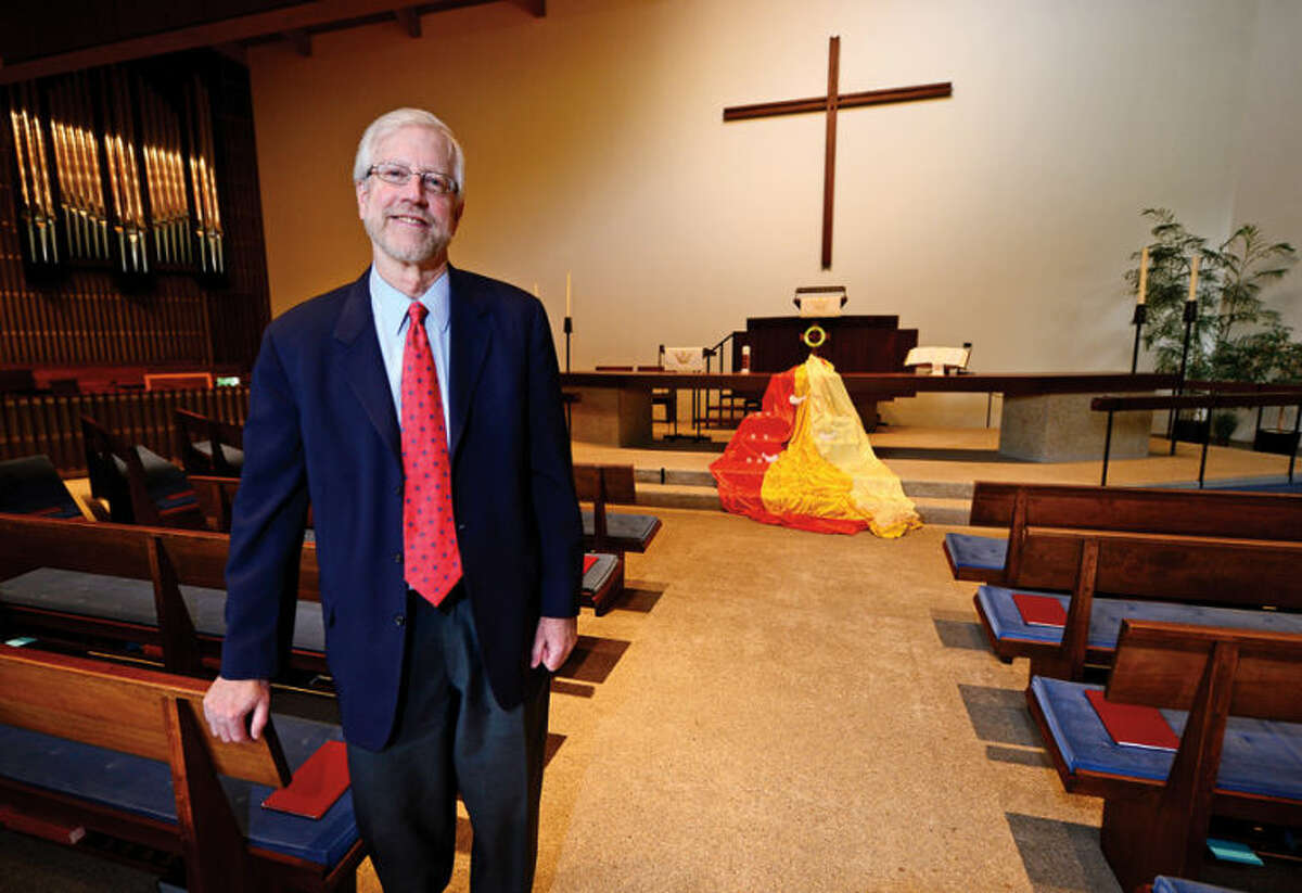 """The Rev. Ed Horne of the United Methodist Church of Westport-Weston, which has voted to become a """"welcoming church"""" that is now accepting gay and lesbian parishioners."""