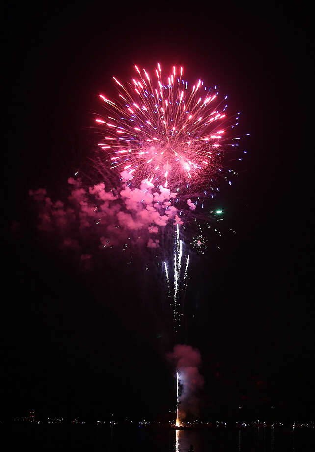 The annual Stamford fireworks display at Cummings Park Thursday evening. Hour Photo / Danielle Calloway