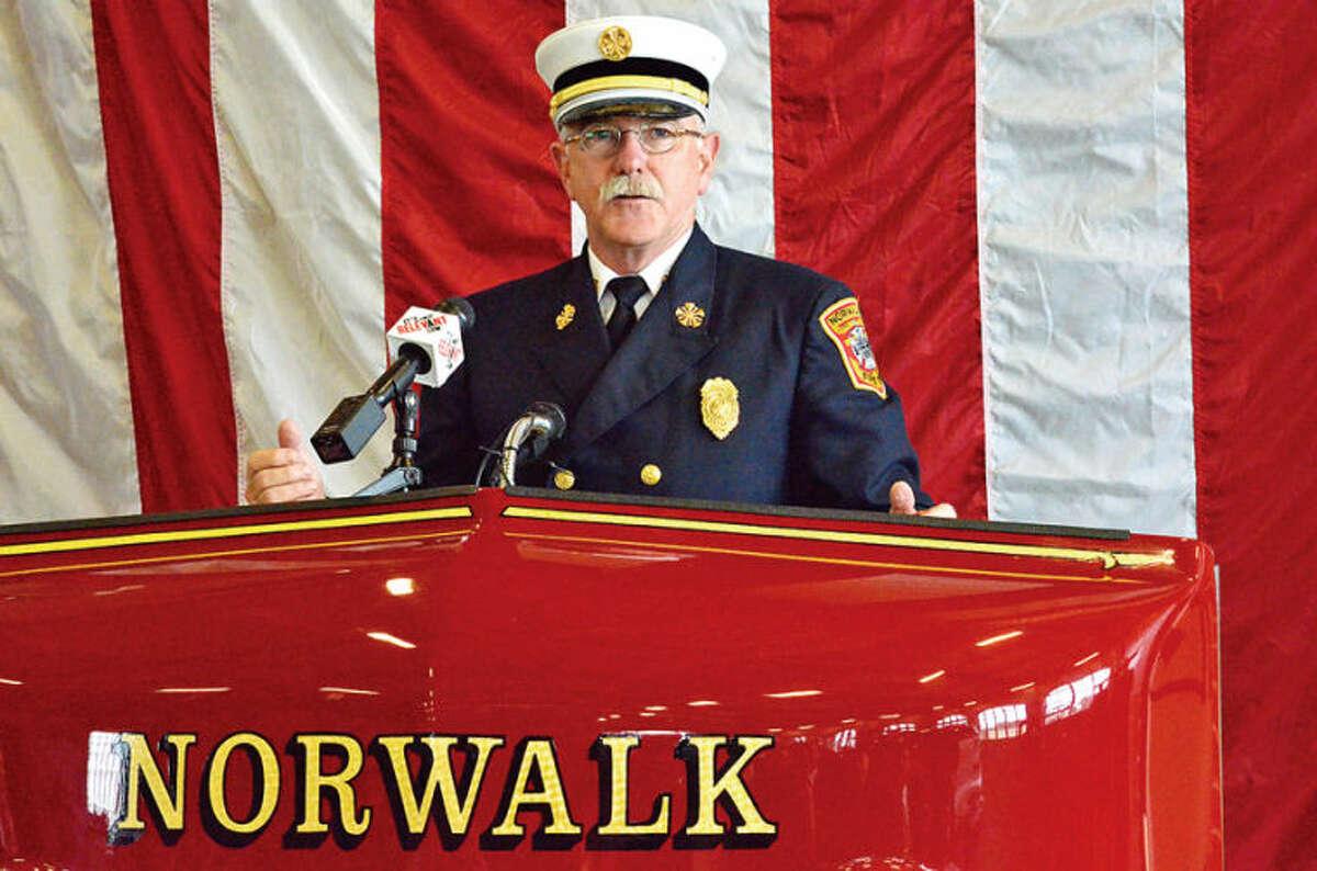 Hour photo / Liana Sonenclar Fire Chief Chief Denis McCarthy