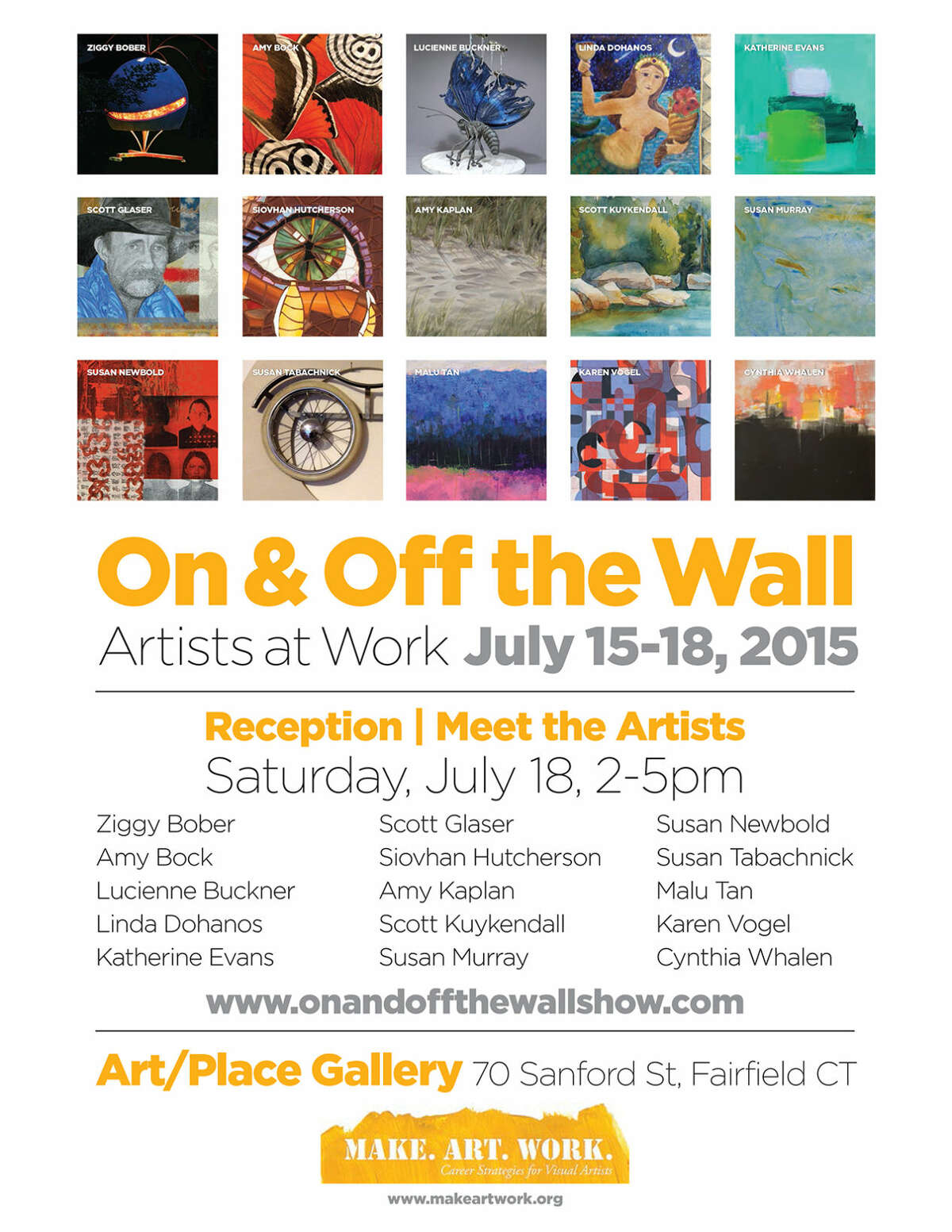 On & Off the Wall - Artists at Work July 15-18, 2015