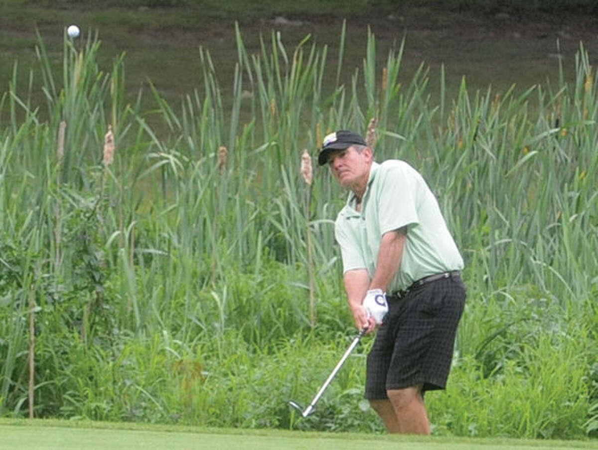 Jim Romaniello at the Stamford amateur championship golf tournament Sunday at Sterling Farms Golf Course. Hour photo/Matthew Vinci