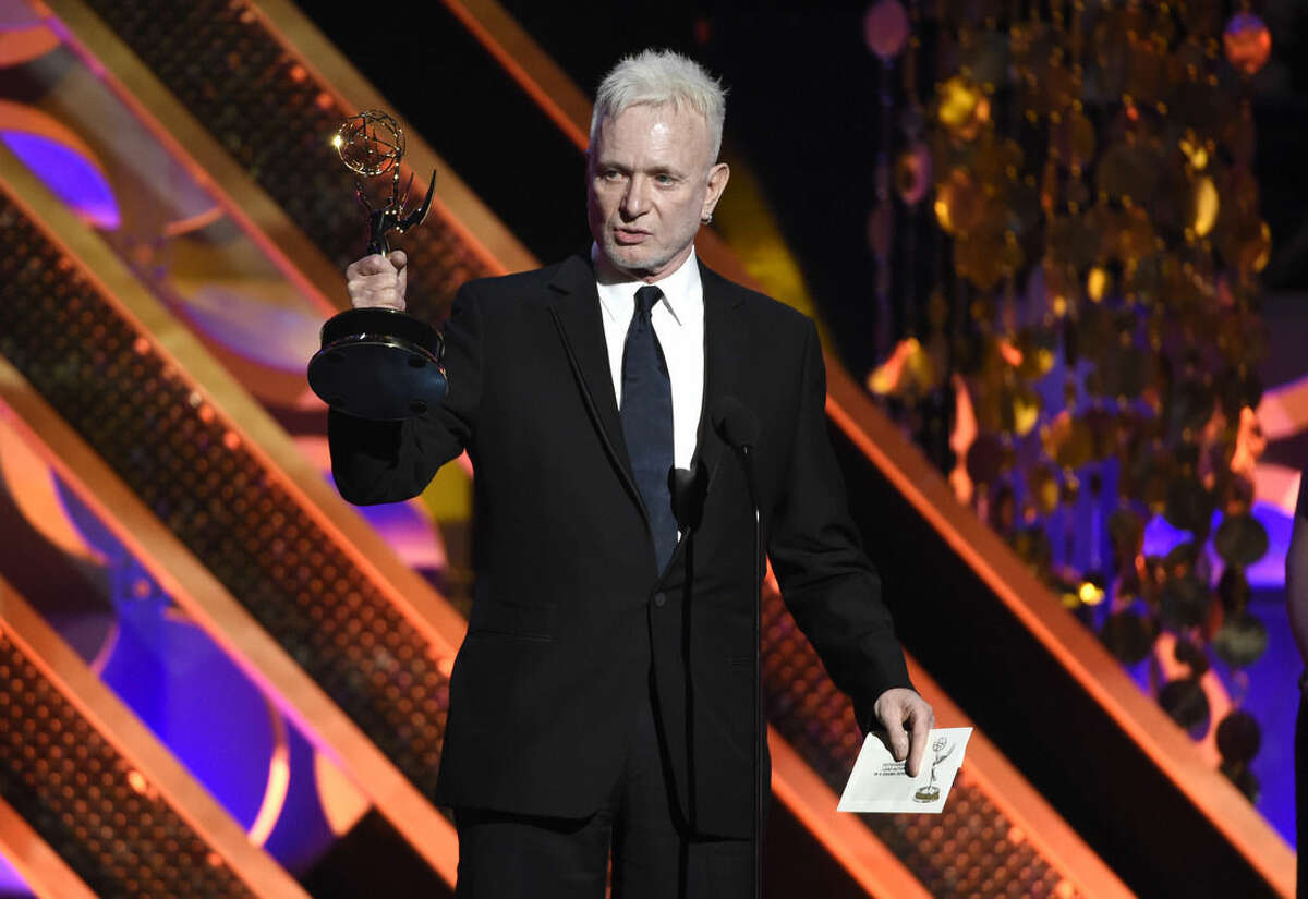 FILE - In this April 26, 2015, file photo, Anthony Geary accepts the award for outstanding lead actor in a drama series for