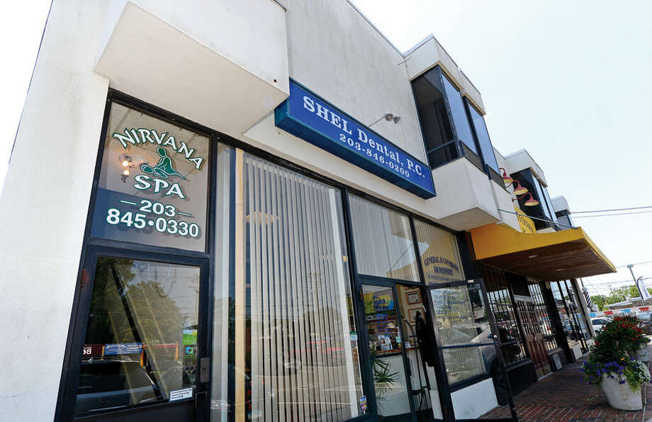 Hour photo / Erik Trautmann Nirvana Spa at 181 Main St. was raided in June for prostitution.