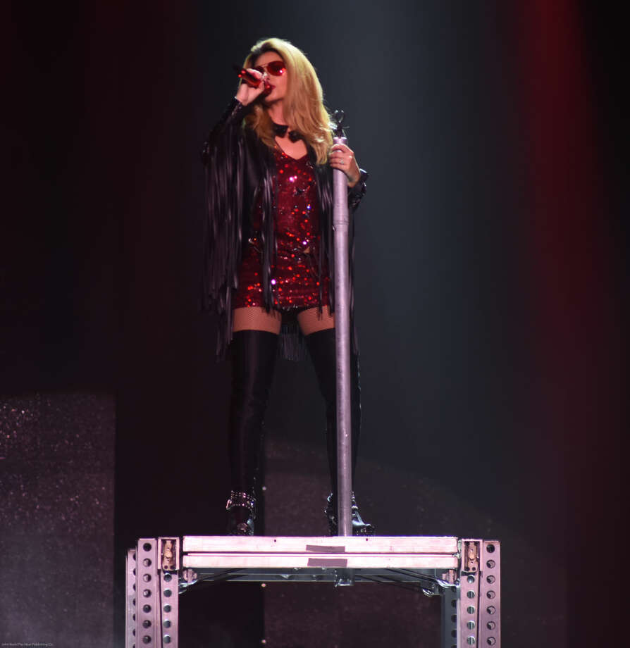 Hour photo/John Nash - For the first time in 11 years, country rock star Shania Twain is back on tour and on Friday, July 3, she was at the Mohegan Sun Arena in Uncasville.