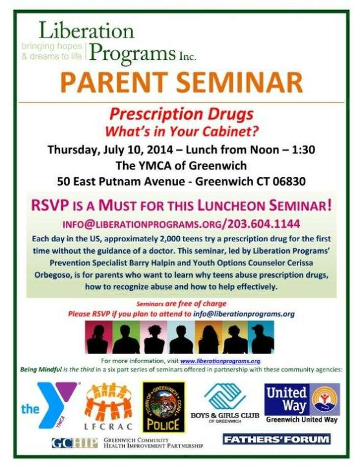 Free Greenwich YMCA Parent Seminar Prescription Drugs What's in Your Cabinet?