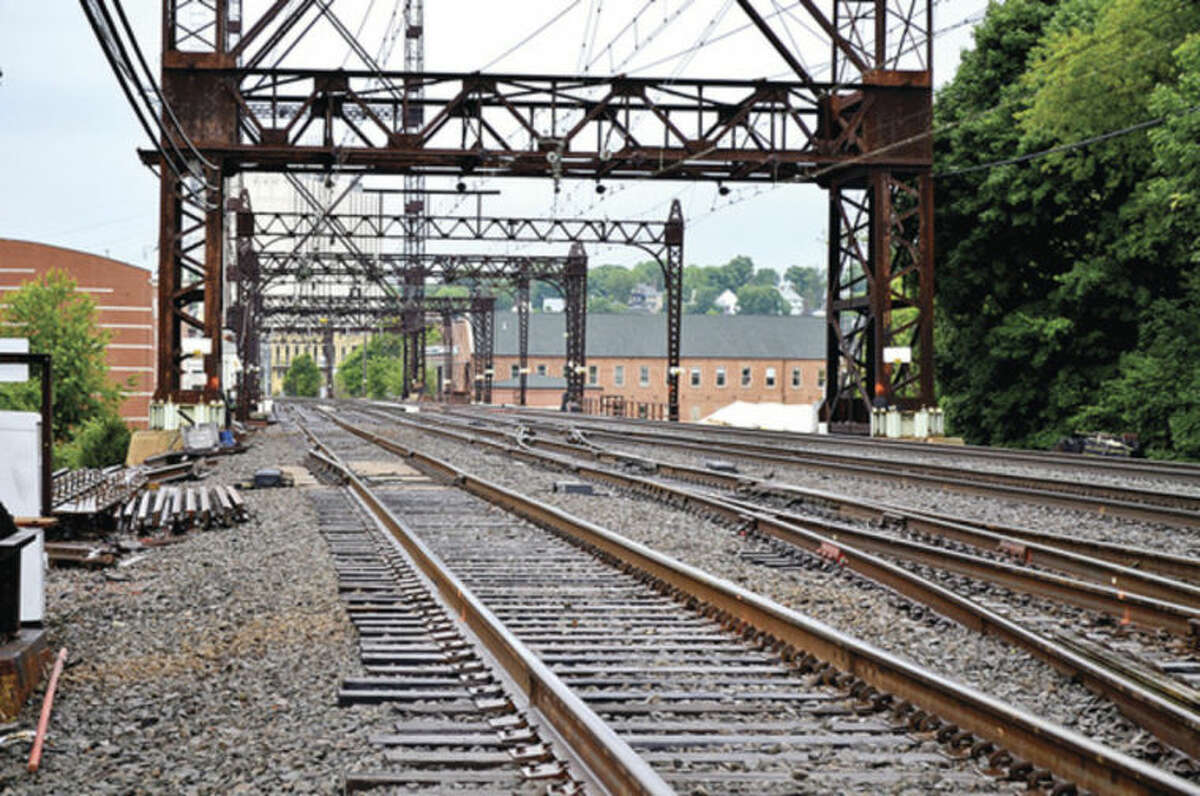 Hour photo / Liana Sonenclar Metro North Rail service was delayed twice recently due to a stuck Walk Bridge bridge in South Norwalk.