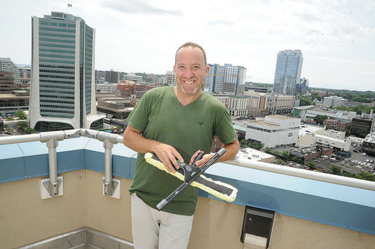 Marc Schultz, president of Sentinel Maintenance East, has seen his building cleaning and maintenance company grow as quickly as Stamford's rising skyline.