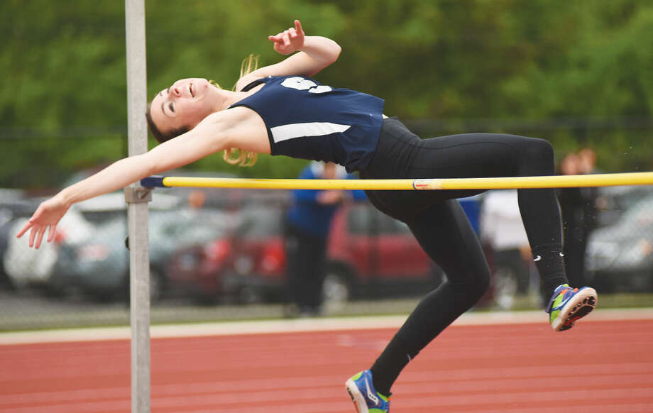 Staples' Bridget van Dorsten is The Hour's All-Area Girls Track and Field MVP for the 2015 season. (John Nash/Hour photo)