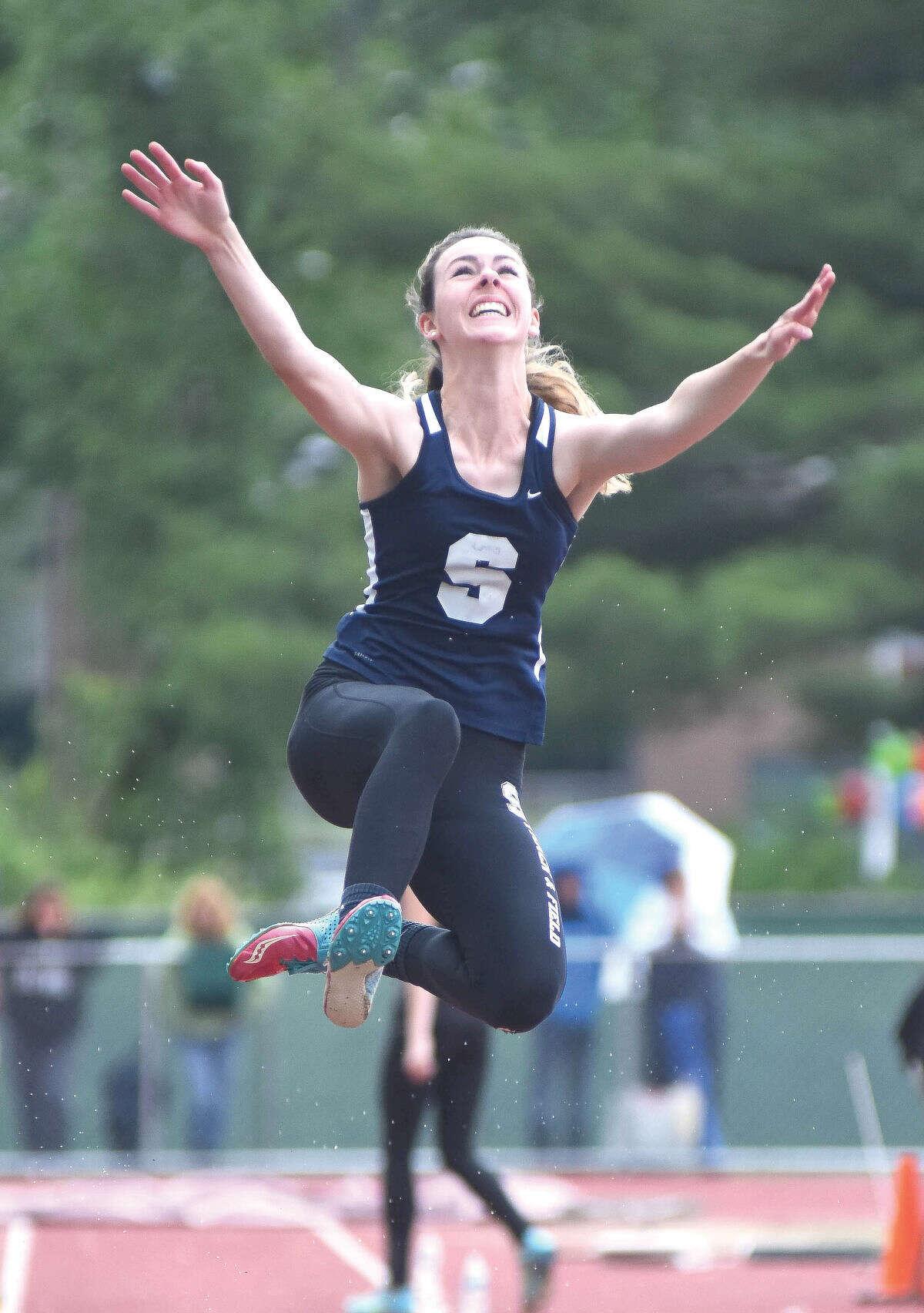 Hour photo Staples' Bridget van Dorsten is The Hour's All-Area Girls Track MVP for the 2015 season.