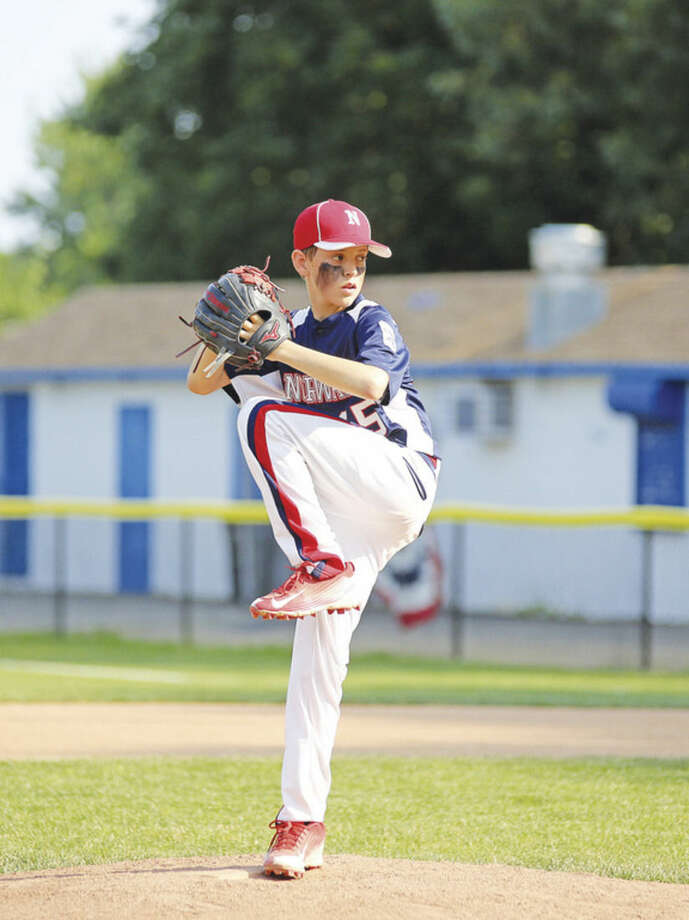 Hour photo/Danielle CallowayNorwalk's Alistair Morin pitched 5 2/3 innings and struck out five batters in the win.