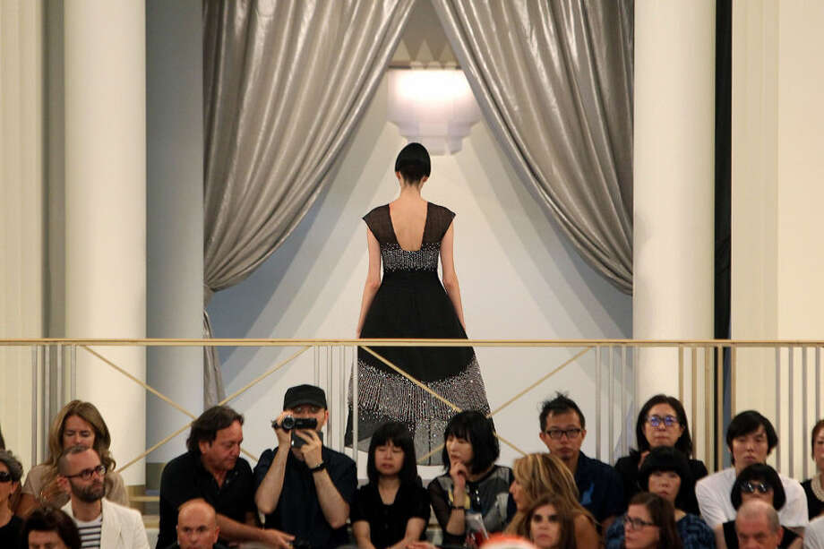 A model wears a creation for Chanel's fall-winter 2015/2016 Haute Couture fashion collection presented in Paris, France, Tuesday, July 7, 2015. (AP Photo/Thibault Camus)