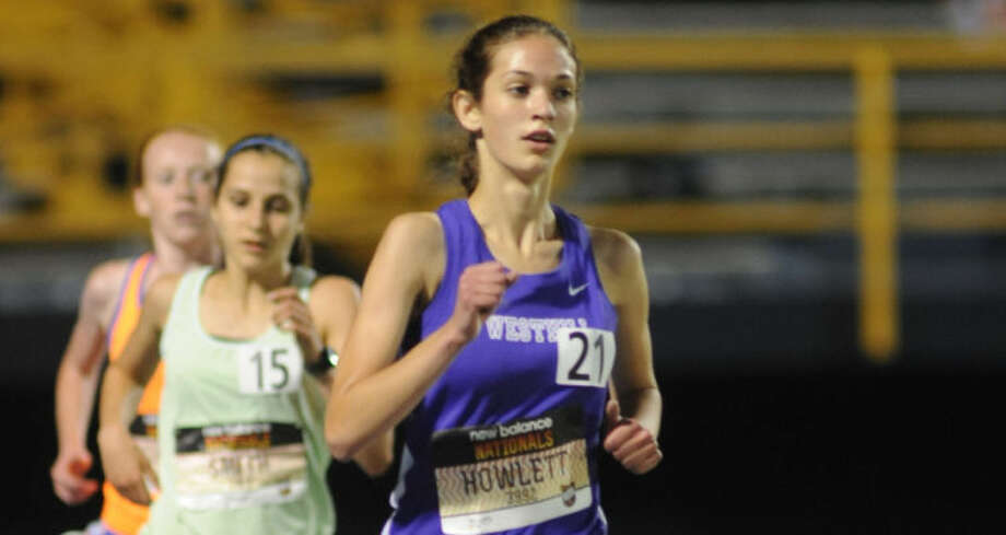 Westhill's Claire Howlett competes in the 2013 New Balance National Championship meet in Greensboro, N.C. This yaer, Howlett finished third in the 5,000-meter run.