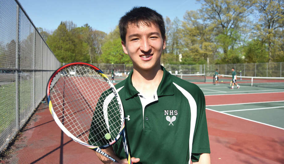 Norwalk's Seiji Hosokawa is The Hour's Boys Tennis MVP for the 2015 season. (Hour photo/John Nash)