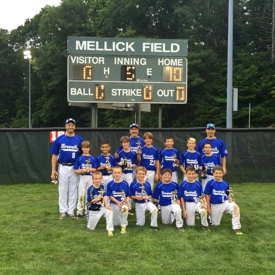 Contributed Photo The Norwalk Cal Ripken All Star 9s captured the District 1 title besting New Canaan 10-0 in the championship game. Norwalk dominated the District Tournament out scoring their opponents 45 to 1. Every player contributed hitting the baseball at bat, great pitching and stellar defense. The Norwalk District 1 Champions are Devin Bowen, Kyle Close, Keegan Cullen, Henry Feinstein, Justin Feinstein, Charlie LaFreniere, Sean Lengyel, Andrew McNamara, Jack Roberts, Taso Panagiotidis, Wil Stalzer and Brian Weiss. Head Coach is Billy Lengyel, and Assistant Coaches are Scott Feinstein and Randy Weiss. Next up for the Norwalk District 1 champs is the Connecticut State Tournament starting July 18 in Milford.