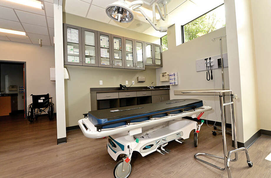 Hour photo / Erik Trautmann The new Urgent Care facility in Norwalk prepares to open on July 23rd.