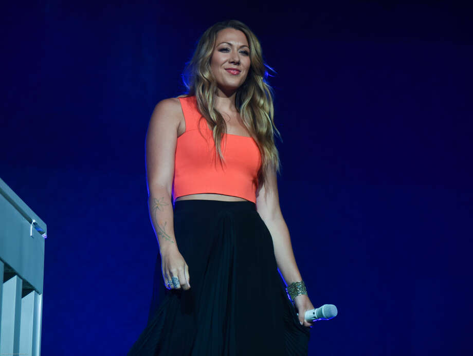 """Hour photo/John Nash - Singer/songwriter Colbie Caillat played Mohegan Sun Arena on Friday night as she and Christina Perri opened their """"Girls Night Out (Boys Can Come, Too) Tour."""