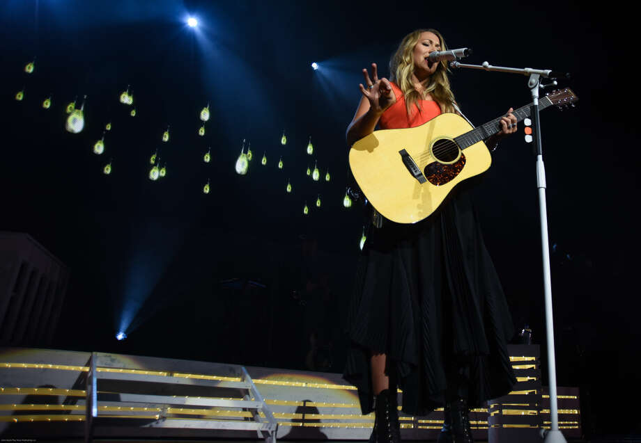 "Hour photo/John Nash - Singer/songwriter Colbie Caillat played Mohegan Sun Arena on Friday night as she and Christina Perri opened their ""Girls Night Out (Boys Can Come, Too) Tour."