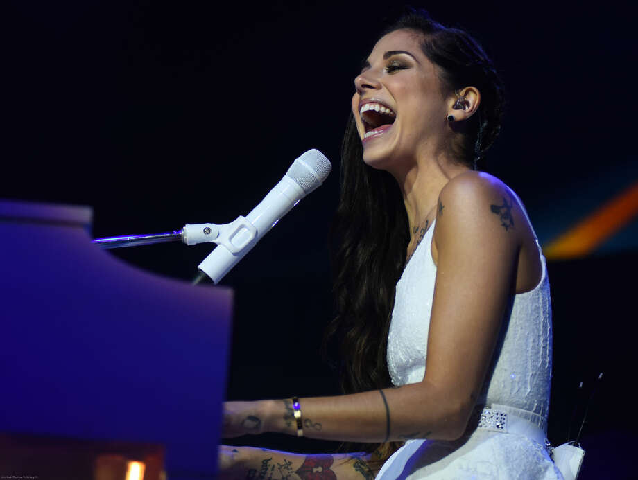 "Hour photo/John Nash - Singer/songwriter and pop star Christina Perri played Mohegan Sun Arena on Friday night as she and Colbie Caillat opened their ""Girls Night Out (Boys Can Come, Too) Tour."