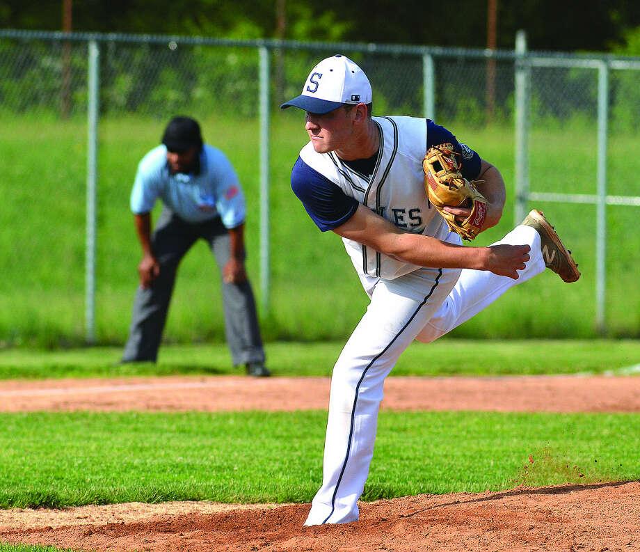 Staples' Ben Casparius is The Hour's All-Area Baseball MVP for the 2015 season (Hour photo/Alex von Kleydorff)